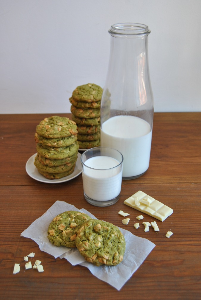 matcha and white chocolat cookies the food boy8