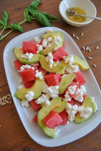 watermelon ricotta avocado salad the food boy2