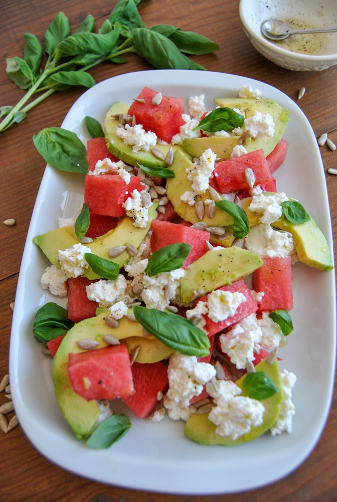 watermelon ricotta avocado salad the food boy6